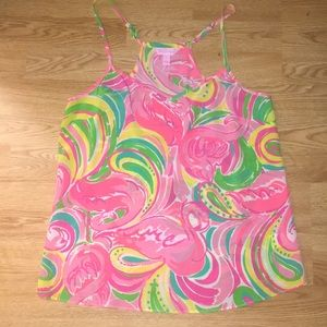 Lilly Pulitzer Dusk Tank in All Nighter Print